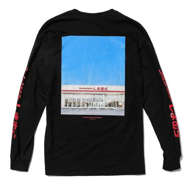 しまむら(シマムラ)のしまむらバックプリント長袖Tシャツ 黒 メンズのトップス(Tシャツ/カットソー(七分/長袖))の商品写真