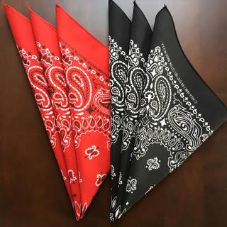 ハバハンク米国製バンダナ☆ペイズリー2色セット☆レッド&ネイビー(バンダナ/スカーフ)