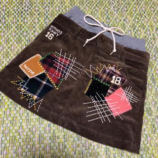 ラフ(rough)のrough☺︎パッチワーク風 コードゥロイスカート Sサイズ(ミニスカート)