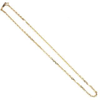 E131  美品 K18 小豆カット 小豆チェーン ネックレス 40cm 10g(ネックレス)