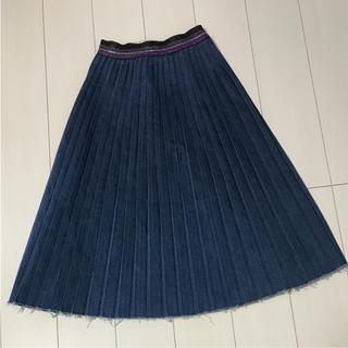 ゴートゥーハリウッド(GO TO HOLLYWOOD)のゴートゥーハリウッド   デニムプリーツスカート(スカート)