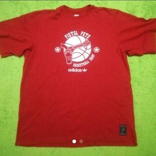 アディダス(adidas)のアディダス 2XL 赤 Tシャツ(Tシャツ/カットソー(半袖/袖なし))