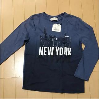 ザラ(ZARA)の商談中!!!新品 ZARA BOYS ネイビーのロンT 122cm Tシャツ(Tシャツ/カットソー)