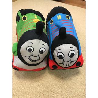 タイトー(TAITO)の値下げ可能!トーマス&パーシークッション2点セット(電車のおもちゃ/車)