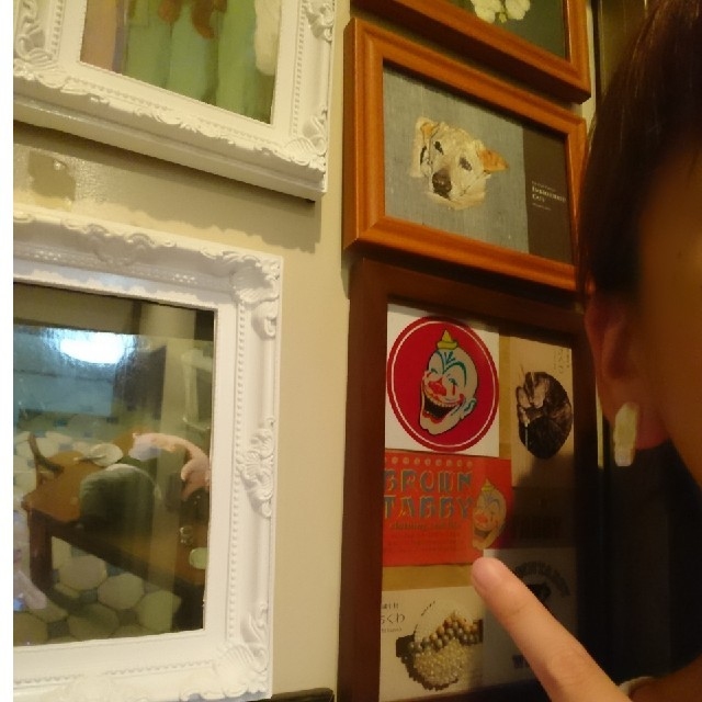 """""""朝焼け"""" アシンメトリー ハンドメイド イヤリング 刺繍 ビーズ 淡水真珠 レディースのアクセサリー(イヤリング)の商品写真"""