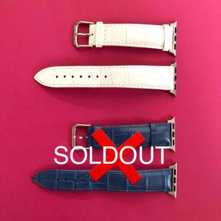アップルウォッチ(Apple Watch)の美品 ☆ 38mm apple watch クロコ型 レザーベルト(腕時計(デジタル))