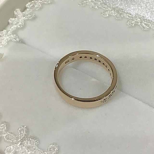 こたろう様専用☆エステール✨K18ピンクゴールド ハーフエタニティ リング レディースのアクセサリー(リング(指輪))の商品写真