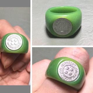 グランドキャニオン(GRAND CANYON)のGRAND CANYON GDCボタンリング シルバーxアクリルリング新品21号(リング(指輪))