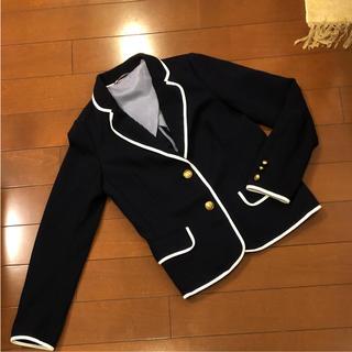 ジーユー(GU)の紺 ブレザー ジャケット(テーラードジャケット)
