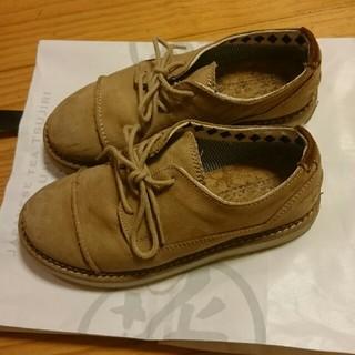 ザラ(ZARA)のZARA   ベージュ皮紐靴(フォーマルシューズ)