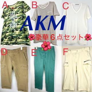 エイケイエム(AKM)の豪華メンズ6点セット!AKM/アレックスミル/フランシストモークス/等(Tシャツ/カットソー(半袖/袖なし))