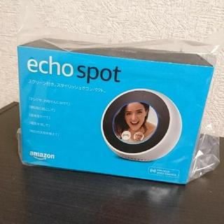 エコー(ECHO)の新品・未開封 Amazon Echo Spot ホワイト(スピーカー)