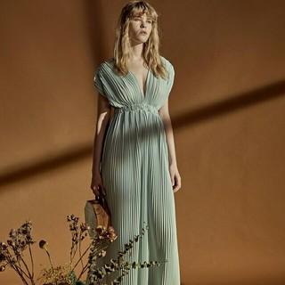 1854f8ba1f015 パーティー ドレス ロング 花嫁 二次会 お呼ばれ ワンピース 新品 妊婦(ウェディングドレス)