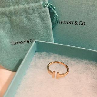 ティファニー(Tiffany & Co.)の【海砂様専用】Tiffany Tリング★ピンクゴールド 9号★ティファニー(リング(指輪))
