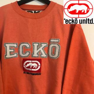 エコーアンリミテッド(ECKŌ UNLTD(ECKO UNLTD))の【レア】 ECKO ANLTD エコーアンリミテッド ビッグロゴ トレーナー(スウェット)