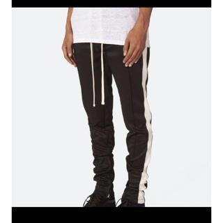 フィアオブゴッド(FEAR OF GOD)のS mnml track pants Black white(ジャージ)