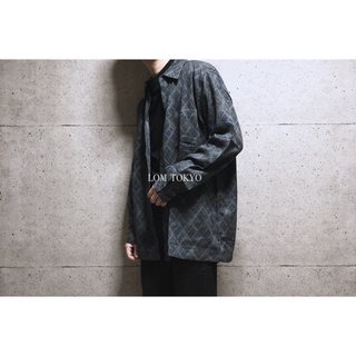 [used]dark color wool mix shirt.(シャツ)