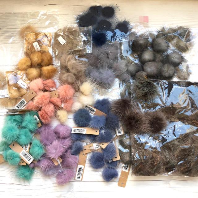 貴和製作所(キワセイサクジョ)のミンクファー 詰め合わせ ハンドメイドの素材/材料(各種パーツ)の商品写真