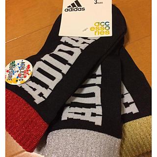 アディダス(adidas)の新品 アディダス ソックス 3足 23〜25㎝ ラメ入り タグあり(ソックス)