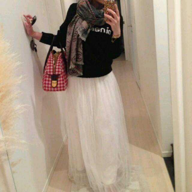 Nina mew(ニーナミュウ)の♡チュールロングスカート♡ レディースのスカート(ロングスカート)の商品写真