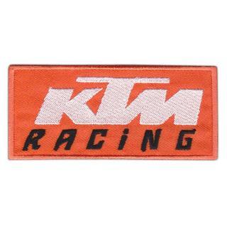 ケーティーエム(KTM)*ワッペン*橙白黒#ktm001(モトクロス用品)