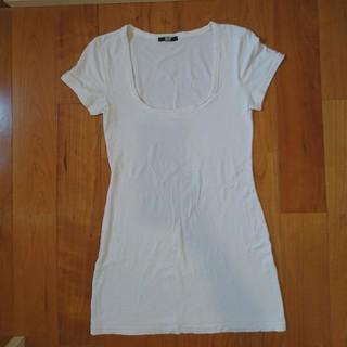 スライ(SLY)のSLY シンプル ロング丈 Tシャツ WH(Tシャツ(半袖/袖なし))