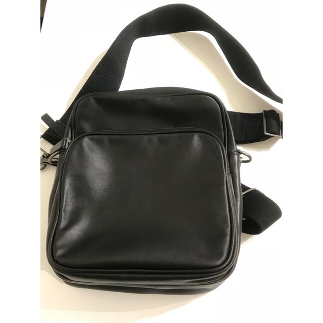 Maison Martin Margiela(マルタンマルジェラ)の【新品未使用NEW】メゾン マルジェラ クロスボディバッグ レザー ブラック メンズのバッグ(ボディーバッグ)の商品写真