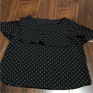 ジーユー(GU)のドットブラウス(シャツ/ブラウス(半袖/袖なし))