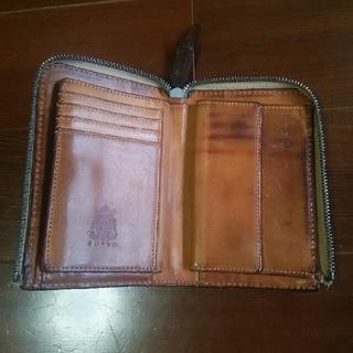 コルボ(Corbo)のヴィンテージ ヌメ革財布(折り財布)