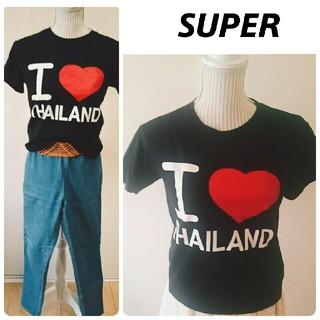 スーパー(SUPER)の9月末迄❕おまけ付❕新品♥プリントtシャツ(Tシャツ(半袖/袖なし))