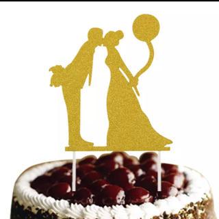 新品  ウェディングケーキトッパー  ケーキトッパー  結婚式(その他)