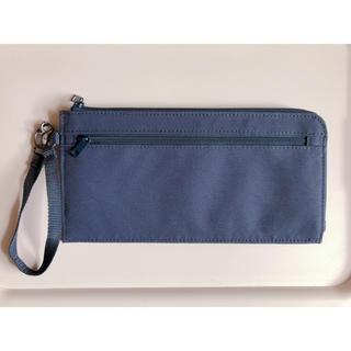 MUJI (無印良品) - 無印良品 ポリエステルパスポートケース 薄型 ネイビー 23×12