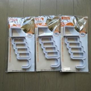 5連 ドアフック キャンドゥ 3個(押し入れ収納/ハンガー)