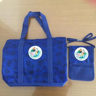 ディズニー(Disney)のクッションシート付きバッグ&チケットポーチ(マザーズバッグ)