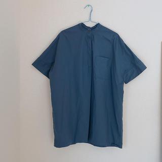 ムジルシリョウヒン(MUJI (無印良品))のスタンドカラーシャツ(シャツ/ブラウス(半袖/袖なし))