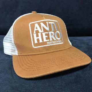 アンチヒーロー(ANTIHERO)のANTIHERO メッシュキャップ 人気ベージュカラー アンチヒーロー(キャップ)