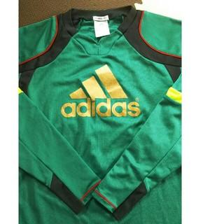 アディダス(adidas)のプラシャツ 長袖 深緑 (Tシャツ/カットソー)