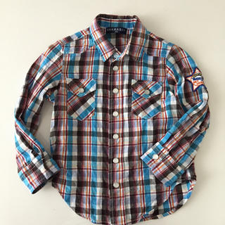 シャマ(shama)のSHAMA BOY チェック シャツ 100(Tシャツ/カットソー)