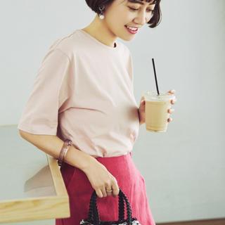 デミルクスビームス(Demi-Luxe BEAMS)のATON パーフェクトスリーブTシャツ ピンク(Tシャツ(半袖/袖なし))