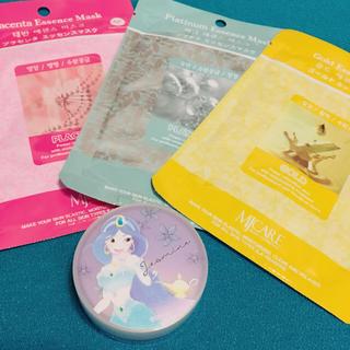 ディズニー(Disney)のクリアオイルクリーム(ジャスミン) + マスクシート3枚(フェイスクリーム)