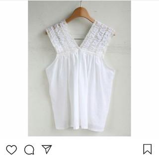 キン(KIN)の【値下げ】KIN レースコットンシャツ(シャツ/ブラウス(半袖/袖なし))
