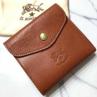 イルビゾンテ(IL BISONTE)の新品 イルビゾンテ 二つ折り財布 あか茶 本革 財布 大容量 ブランド レザー(折り財布)