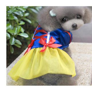 白雪姫風 洋服 新品(犬)