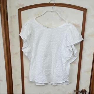 ジーユー(GU)のブラウス GU ホワイト(シャツ/ブラウス(半袖/袖なし))