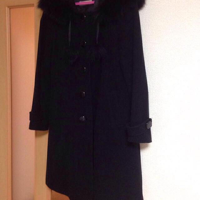 LAISSE PASSE(レッセパッセ)のレッセパッセ黒コート レディースのジャケット/アウター(ロングコート)の商品写真