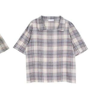 ロクロクガールズ(66girls)の66girls  半袖チェック柄ブラウス(シャツ/ブラウス(半袖/袖なし))