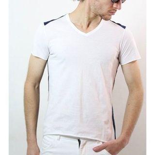 ダブルジェーケー(wjk)の一度着用9180円 wjk バックカモフラ鹿の子Tシャツ AKMジュンハシモト(シャツ)