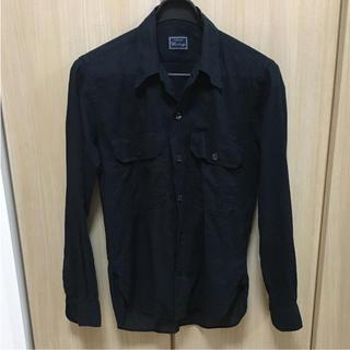 オリアン(ORIAN)のビームス 購入 オリアンのリネンサファリシャツ 黒 S(シャツ)