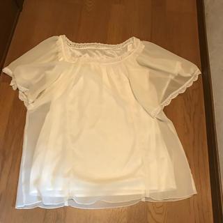 クードシャンス(COUP DE CHANCE)のクードシャンス 袖ひらひらシフォントップス 38(シャツ/ブラウス(半袖/袖なし))