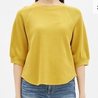ジーユー(GU)のGU ワッフルラグランスリーブT (5分袖)(Tシャツ(半袖/袖なし))